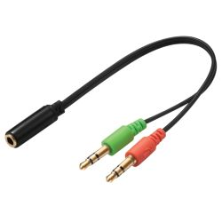 Sandberg Headset Converter - Single Jack to Dual Connector Mic & Speakers, 5 Year Warranty