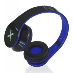 Approx APPDJJAZZBKBL DJ Jazz Headset, 3.5mm Jack, Foldable, Black & Blue