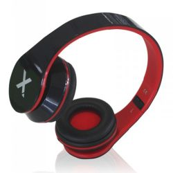 Approx APPDJJAZZBKR DJ Jazz Headset, 3.5mm Jack, Foldable, Black & Red