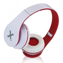 Approx APPDJJAZZWR DJ Jazz Headset, 3.5mm Jack, Foldable, White & Red