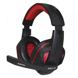 Approx GH7R Gaming Headset, Boom Mic, 40mm Drivers, Inline Controls, 3.5mm Jack, Red