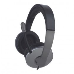 Approx Professional Chat Headset, Boom Mic, Noise Cancellation, Black & Grey