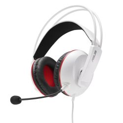 Asus CERBERUS ARCTIC Gaming Headset, 60mm Drivers, Full-size Cushions, Dual-mic, Braided Cable