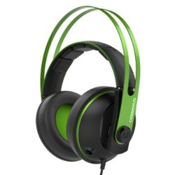 Asus CERBERUS Gaming Headset V2, 53mm Drivers, Braided Cable, Green