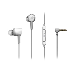 Asus ROG Cetra II Core Gaming In-Ear Earset, 3.5mm Jack, Inline Microphone, Liquid Silicone Rubber, Carry Case, Moonlight White
