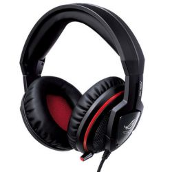 Asus Orion Gaming Headset, In-line Controls, Full Size Over Ear Cushions, 30dB noise isolation, ROG