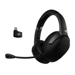 Asus ROG Strix Go 2.4 Wireless Gaming Headset, USB-C3.5 mm Jack, AI Noise-Cancelling Mic, 25 Hour Battery Life