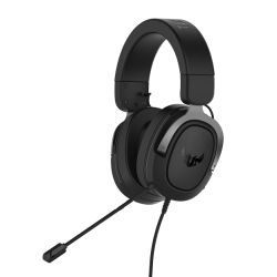 Asus TUF Gaming H3 7.1 Gaming Headset, 3.5mm Jack, Boom Mic, Surround Sound, Deep Bass, Fast-cooling Ear Cushions, Gun Metal