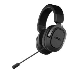Asus Gaming H3 Wireless Gaming Headset, USB-C USB-A Adapter, Boom Mic, Surround Sound, Deep Bass, Fast-cooling Ear Cushions, Gun Metal
