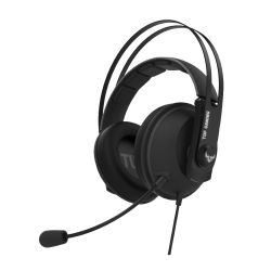 Asus TUF Gaming H7 7.1 Gaming Headset, 53mm Driver, 3.5mm Jack (USB Adapter), Boom Mic, Virtual Surround, Stainless-Steel Headband, Gun Metal