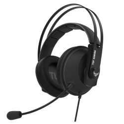 Asus TUF Gaming H7 Core Gaming Headset, 53mm Driver, 3.5mm Jack, Boom Mic, Stainless-Steel, Gun Metal