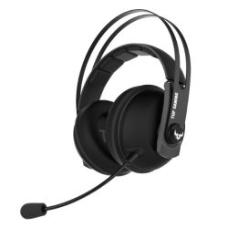 Asus Gaming H7 Wireless Gaming Headset, 53mm Drivers, 15+ Hour Battery Life, Pressure-reducing Cushion, Touch Controls, Gun Metal