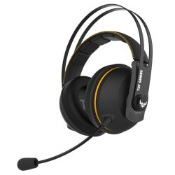 Asus Gaming H7 Wireless Gaming Headset, 53mm Drivers, 15+ Hour Battery Life, Pressure-reducing Cushion, Touch Controls, Yellow