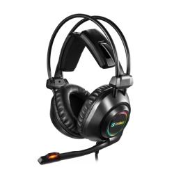 Sandberg Savage Gaming Headset, USB, 7.1 Surround, 50mm Drivers, Comfortable Padding, LED Lighting, 5 Year Warranty