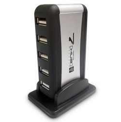 Dynamode USB-H70-1A2.0 External 7-Port USB 2.0 Hub, Mains Powered