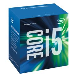 Intel Core I5-6400 CPU, 1151, 2.7 GHz, Quad Core, 65W, 14nm, 6MB Cache, HD GFX, 8 GT/s, Sky Lake