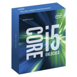 Intel Core I5-6600K CPU, 1151, 3.5 GHz, Quad Core, 95W, 14nm, 6MB, 8 GTs, Overclockable, NO HEATSINKFAN, Sky Lake