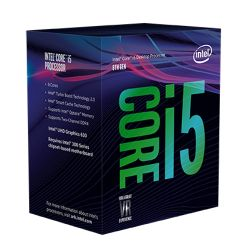 Intel Core i5-8400 CPU, 1151, 2.8 GHz 4.0 Turbo, 6-Core, 65W, 14nm, 9MB Cache, UHD GFX, Coffee Lake