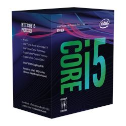 Intel Core i5-8600 CPU, 1151, 3.1 GHz 4.3 Turbo, 6-Core, 65W, 14nm, 9MB Cache, UHD GFX, Coffee Lake