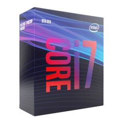 Intel Core i7-9700 CPU, 1151, 3.0 GHz (4.7 Turbo), 8-Core, 65W, 14nm, 12MB Cache, UHD GFX, Coffee Lake