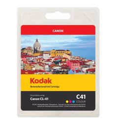 Kodak Remanufactured Canon CL-41 Colour Inkjet Ink, Cyan, Magenta, Yellow, 24ml