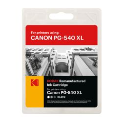 Kodak Remanufactured Canon PG-540XL Black Inkjet Ink, 21ml
