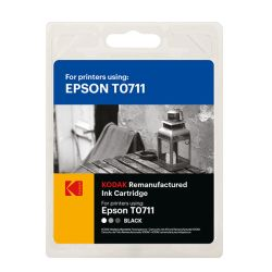 Kodak Remanufactured Epson T0711T0891 Black Inkjet Ink, 7.4ml