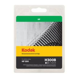 Kodak Remanufactured HP HP300CC640EE Black Inkjet Ink, 9ml
