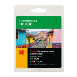 Kodak Remanufactured HP HP300CC643EE Colour Inkjet Ink, 12ml
