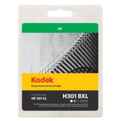 Kodak Remanufactured HP301CH563EE XL Black Inkjet Ink, 15ml