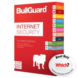 Bullguard Internet Security Retail, 3 User 10 Licenses, Windows Only, 5GB Backup