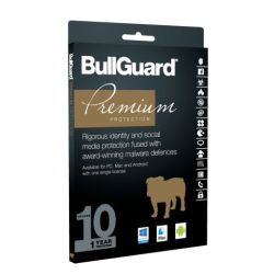 Bullguard Premium Protection 2017 10 User 1 License, Retail, Multi Device License, 1 Year