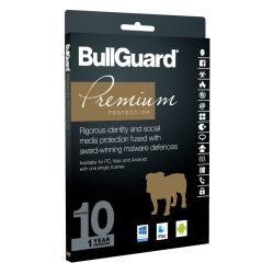 Bullguard Premium Protection 2017 10 User 10 Licenses, Retail, Multi Device License, 1 Year