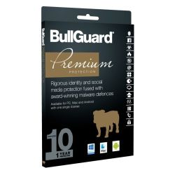 Bullguard Premium Protection 2018 10 User 10 Pack, Retail, Multi Device Licence, 1 Year