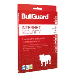 Bullguard Internet Security 2018 Retail, 3 User 10 Pack, Multi Device Licence, 1 Year