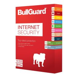 Bullguard Internet Security 2018 Soft Box, 3 User 25 Pack, Windows Only, 1 Year