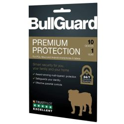 Bullguard Premium Protection 2020, 10 User - Single, Retail, PC, Mac & Android, 1 Year