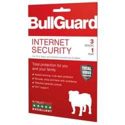 Bullguard Internet Security 2019 Retail, 3 User Single, Multi Device Licence, 1 Year