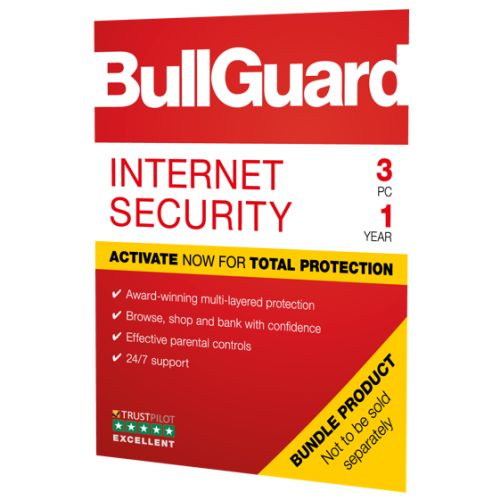 Bullguard Internet Security 2019 Soft Box, 3 User 25 Pack, Windows Only, 1 Year
