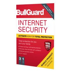 Bullguard Internet Security 2020 Soft Box - Single 3 User Licence - 1 Year - Windows Only