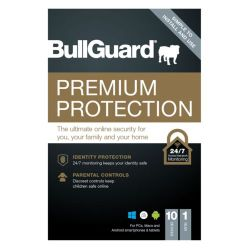 Bullguard Premium Protection 2021 Retail Box - Single 10 User Licences - 1 Year - PC, Mac & Android