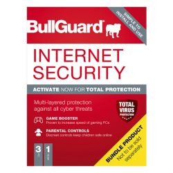 Bullguard Internet Security 2021 Soft Box - Single 3 User Licence - 1 Year - Windows Only