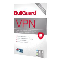 Bullguard VPN 2021 Retail 5 Pack -  5 x 6 Device Licences, 1 Year -  PC, Mac, Android & iOS
