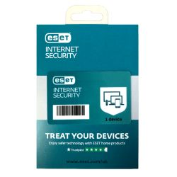 ESET Internet Security Retail Box 10 Pack � 10 x 1 Device Licences  - 1 Year - PC, Mac, Linux & Android