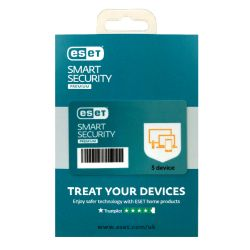 ESET Smart Security Premium Retail Box 10 Pack � 10 x 5 Device Licences  - 1 Year - PC, Mac, Linux & Android