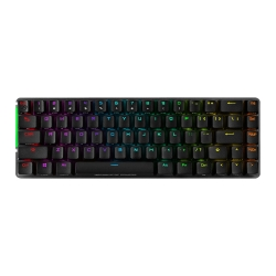 Asus ROG FALCHION Compact 65% Mechanical RGB Gaming Keyboard, Wireless/USB, Cherry MX Red, Per-key RGB Lighting, Touch Panel, 450-hour Battery Life
