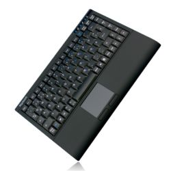 Keysonic ACK-540BT Wireless Mini Keyboard, USB, Bluetooth, Built-in Touchpad