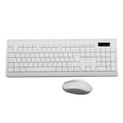 Sumvision Paradox V Wireless Keyboard and Mouse Desktop Kit, Multimedia, White