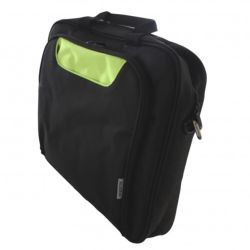 Approx APPNBCP15BGP 15.6 Laptop Carry Case, Multiple Compartments, Padded, BlackGreen, Retail