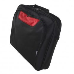 """Approx (APPNBCP15BR) 15.6"""" Laptop Carry Case, Multiple Compartments, Padded, Black/Red, Retail"""